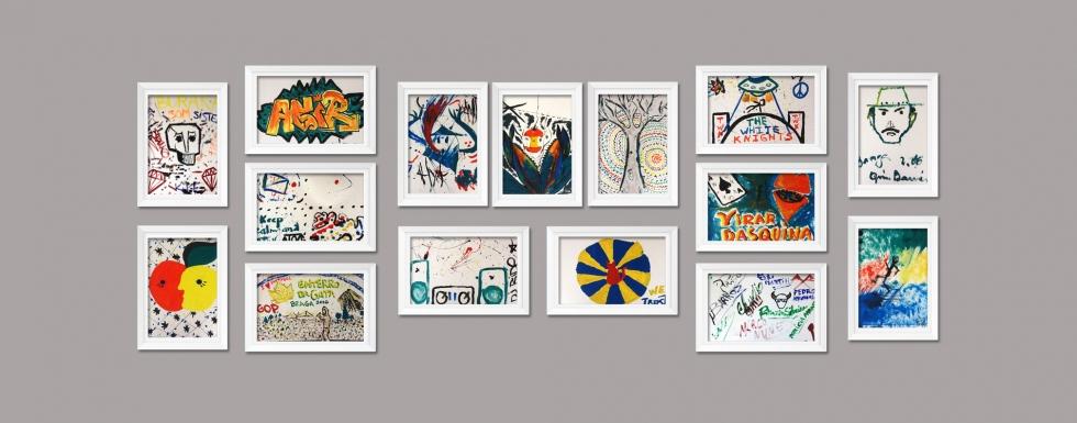 Quadros dos artistas do Enterro da Gata já disponíveis para leilão. Vamos ajudar!